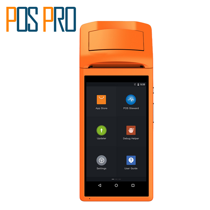 IPDA020 Android5.1 mobile 1D barcode scanner thermal printer Handheld Pos terminal bluetooth wifi Android Rugged PDA 3G Sunmi V1