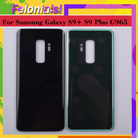 battery samsung galaxy 10Pcs/lot For Samsung Galaxy S9 Plus G965 G965F G9650 SM-G965F Housing Battery Door Rear Back Glass Cover Case Chassis Shell (3)