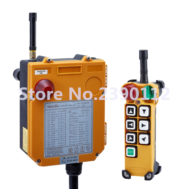 industrial wireless redio remote control F24-6D for hoist crane