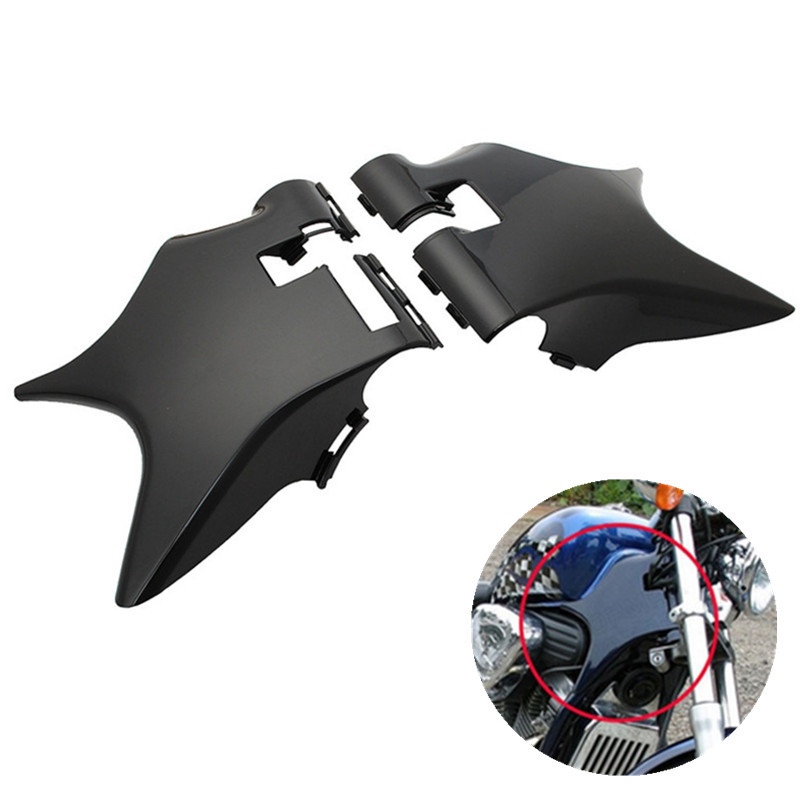 2pcs/set Motobike Frame Neck Cover Cowl Black For Honda Shadow VT600 VLX 600 STEED400 Motorcycle ABS Plastic Moto Accessories for 88 98 honda shadow vt600 vlx 600 steed 400 motorcycle abs plastic frame neck cover cowl wire covers side frame guard black
