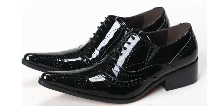 Sapato masculino social mens patent leather black shoes men luxury pointy oxford shoes for men flats lace up loafer social evolution