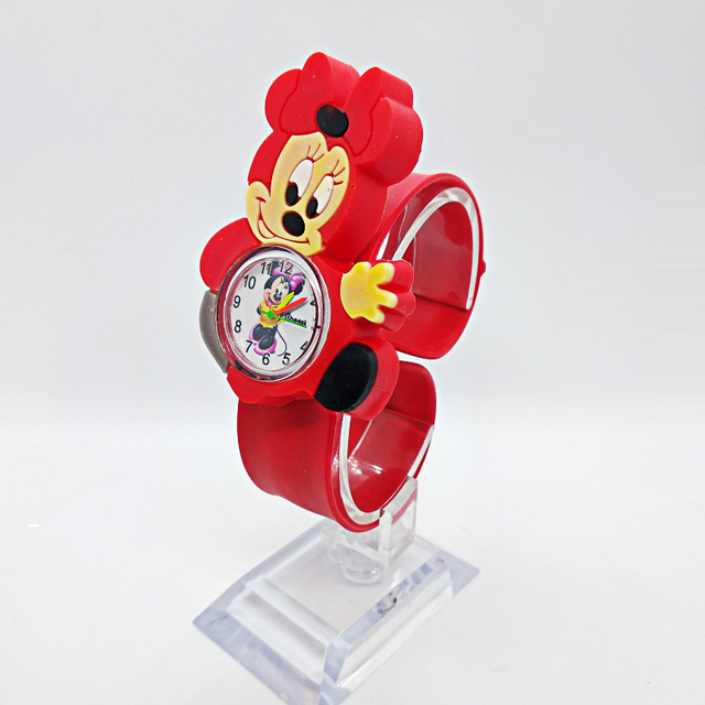 Relogio Infantil Cartoon 3D Life Waterproof Mouse Kids Watches Rubber Quartz Chi