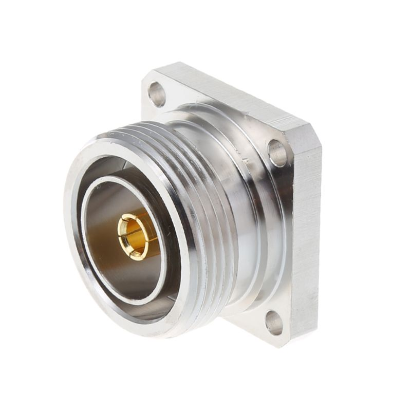 L29 7/16 Din Female Jack Center Connector With 4 Holes Flange Deck Solder Cup RF Coax Adapter