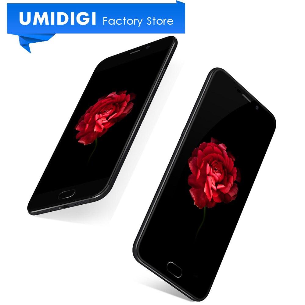 Цена за Оригинал Umidigi Плюс E Открыл Мобильный Телефон 6 ГБ RAM 64 ГБ ROM 5.5 inch MTK Helio P20 4000 МАч отпечатков пальцев Сотовый Телефон