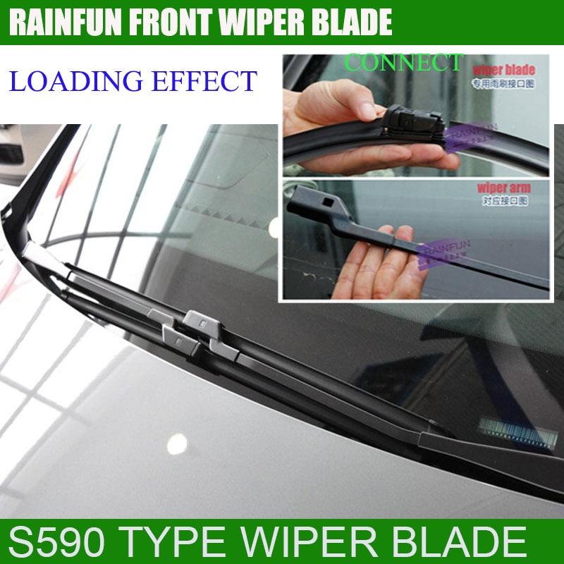 RAINFUN специальный автомобиль стеклоочистителя для peugeot 508(10-), 26+ 26R дюймовый автоматический стеклоочиститель с натуральным каучуком, 2 шт в партии