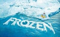 7x5ft冷凍テーマビニールカスタム写真撮影の背景プロップモスリン背景BX-155