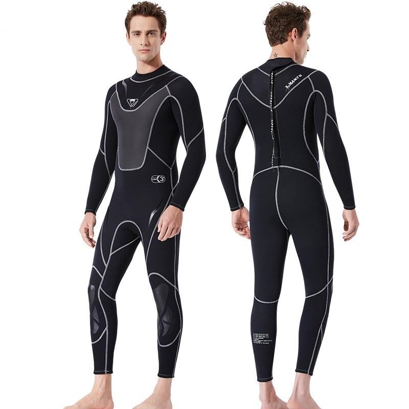Black Red Wetsuit Stripe Size XL Full Body 3mm Neoprene Surf Scuba Fullsuit New