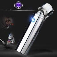 2018 new 6 arc lighter plasma electric cigarette lighter metal rechargeable USB lighter 6 arc electric arc pulse