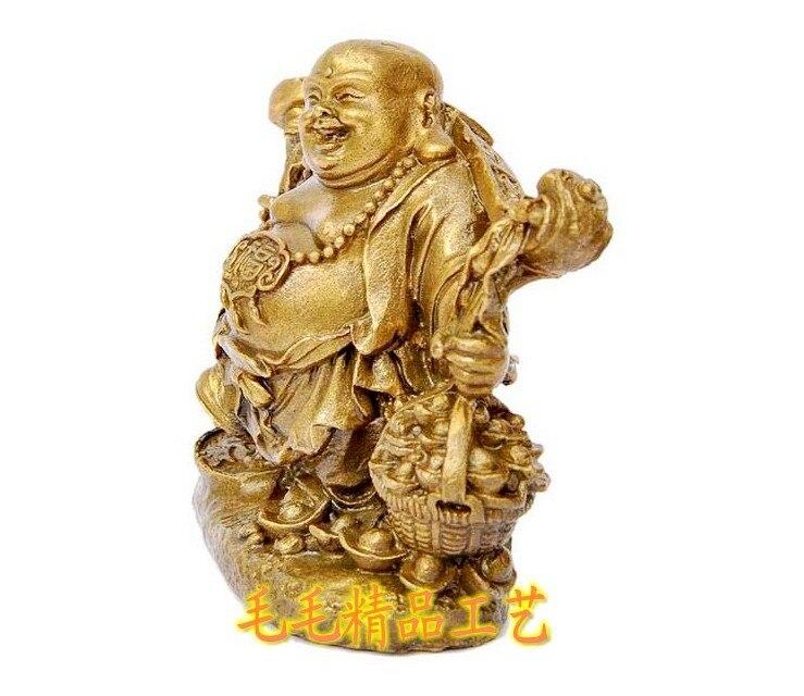 The copper money wealth Maitreya Buddha pick pick lucky Wangcai copper ornaments Maitreya Buddha feng shui supplies