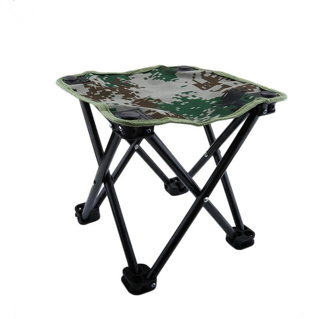 1 PC Foldable Camouflage Chair Outdoor Fishing Camping Hiking Gear  Convenient Carry Seat With Packing Bag