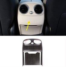 2pcs Car Accessories Oak Wood Colour ABS Rear Air Conditioning Vent Cover Trim For Mercedes Benz C Class W205 C-Class 2015-2018