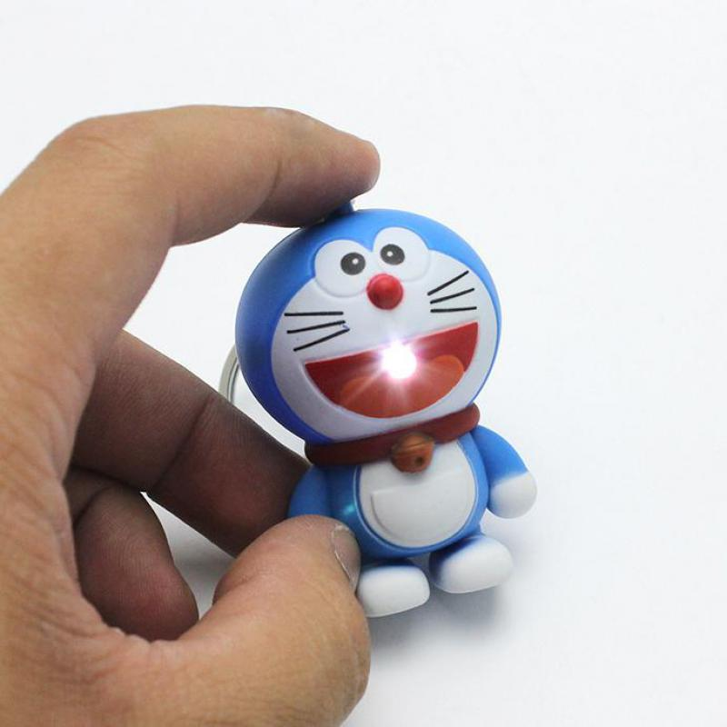New Arrival Kids Cartoon TV Doraemon Action Figure Toys With Sound Keychian Say I LOVE YOU  Free Shipping поильник happy baby с трубочкой и ручками 240 мл feeding cup 14004 red