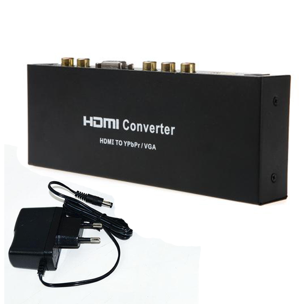 NEW HDMI To VGA/Ypbpr converter Adapter+R/L/SPDIF AV to VGA Converter Support 5.1CH Surround Sound 1080P Video Audio RCA L/R
