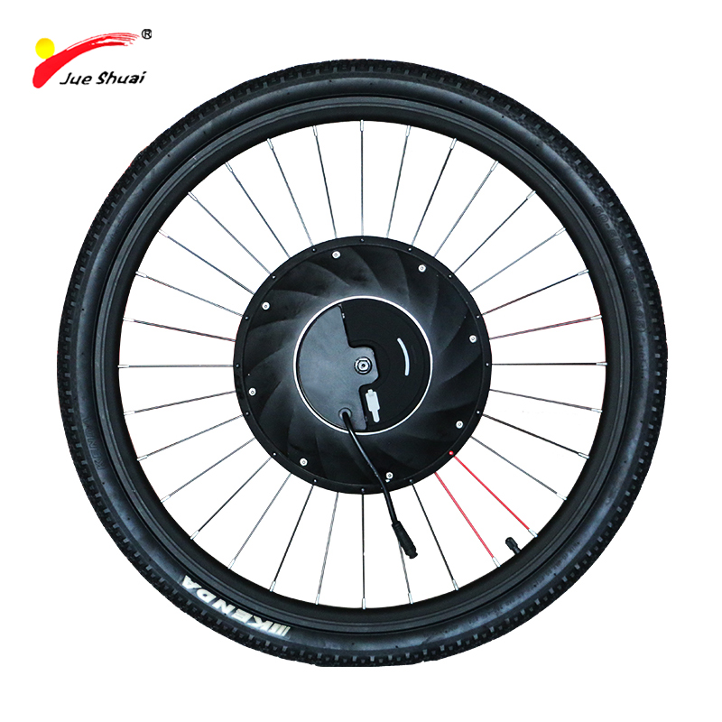 IMortor moteur électrique Roue vélo électrique Kit de Conversion avec La Batterie Tout en un Vélo Eelectric Moteur Ebike Moteur Roue