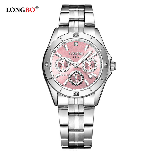 LONGBO Luxury Fashion Women Watches Casual Stainless Steel Band Women Quartz Wat