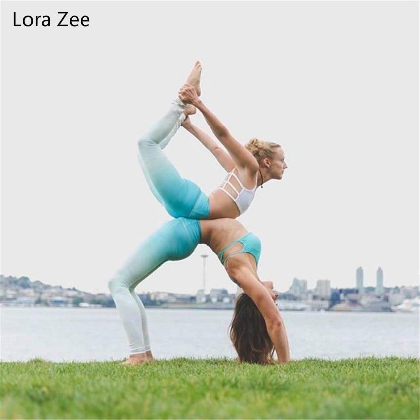 Lora Zee Ocean Print Yoga Pants Women High Quality Skinny