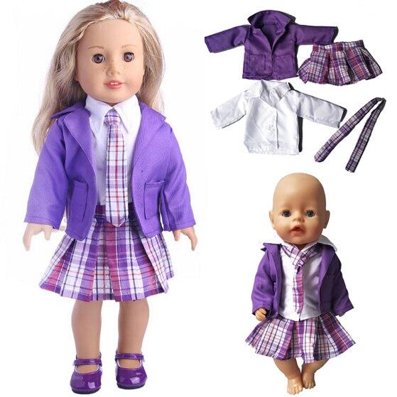 American girl doll ropa escolar camisa blanca correa para 18 \