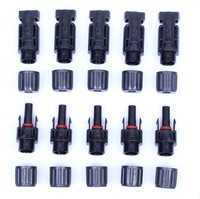 MC 4 solar Connector sold a lot 100 pairs/200 pairs Free shipping solar PV cells panels cable connector MC four