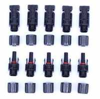 MC4 Connector sold a lot 100 pairs/200 pairs Free shipping solar PV cells panels cable connector