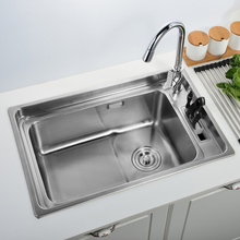 Free shippingGermany basin thickening of 304 stainless steel sink single slot knife with the kitchen sink sink in single trough