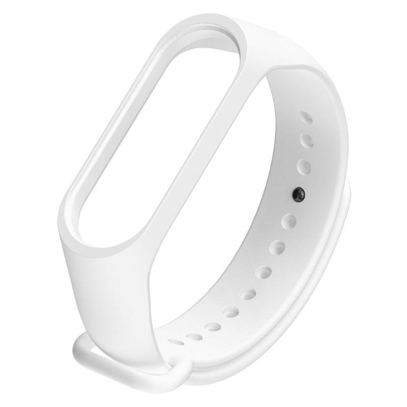 Silicone Wristband Watch Strap Replacement for Xiaomi Miband 3 4 (White) Flexible Sport Wristbands Balance(China)