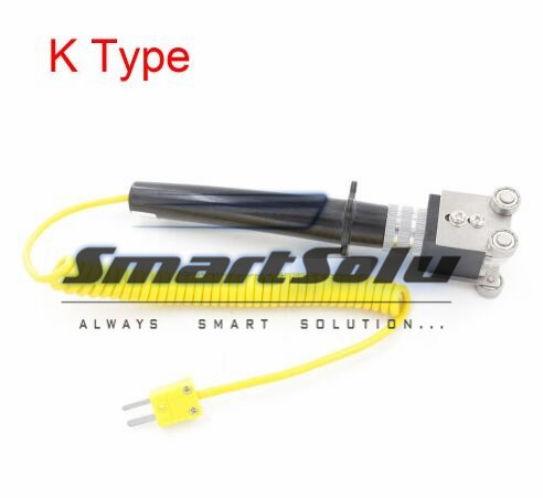 Free Shipping K Type 0 to 500 Measuring 13mmx5mm Roller Surface Thermocouple usb3 0 round type panel mounting usb connecter silver surface