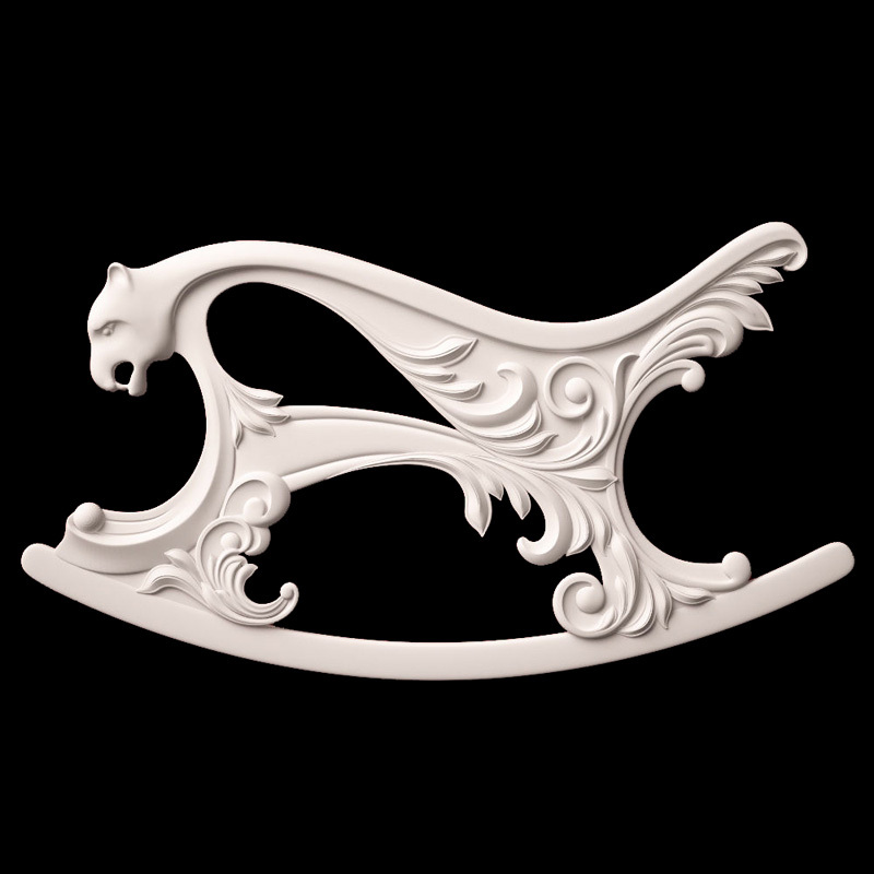Rocking Chair 3D Model STL relief for cnc STL format Furniture Rocking Chair 3D STL format furniture decoration 3d model relief for cnc in stl file format animals and birds 2