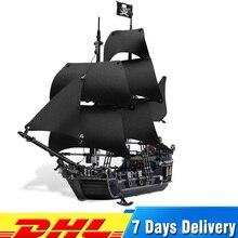 DHL LEPIN 16006 Pirates Caribbean Ship The Black Pearl Building Blocks Set 4184 Lovely Educational Boy