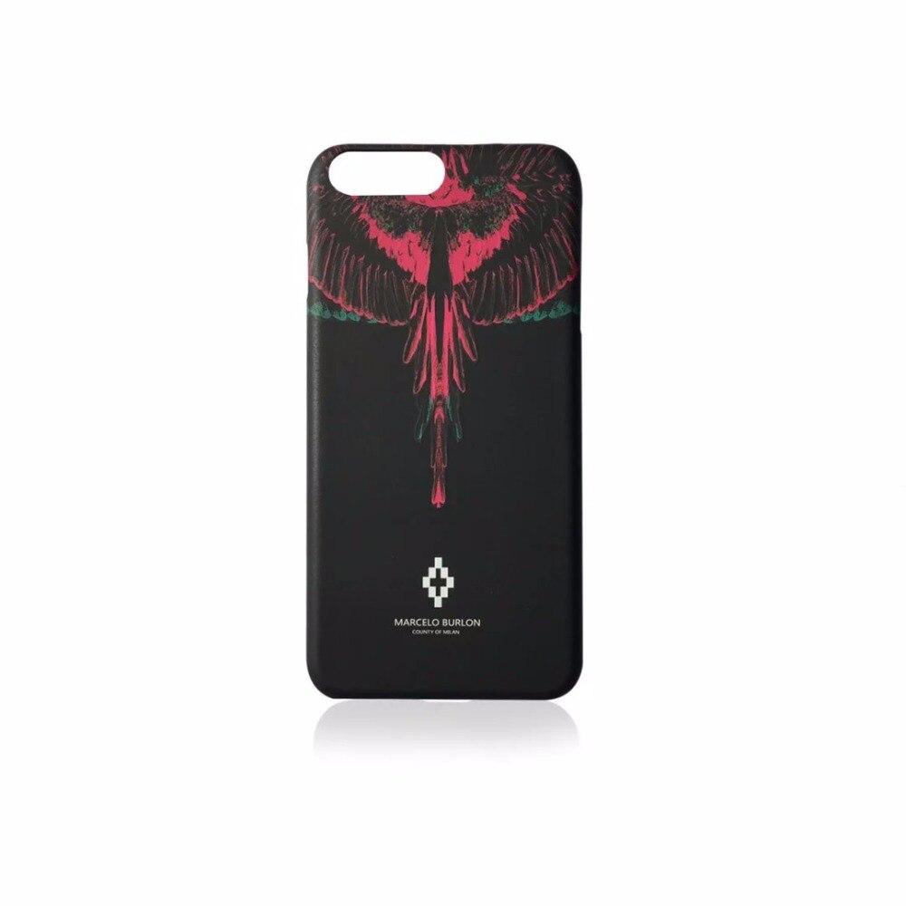 Fashion Wings marcelo burlon matte plastic cover for iphone 6S plus 7plus 8plus X Animal snake Tiger Lion Leopard phone cases