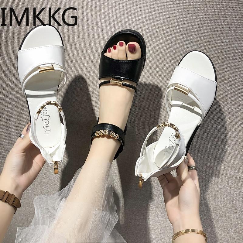 Summer Sandals Pumps Platform Wedge High-Heels Gladiator Women Woman Mujer A00276 Chaussure