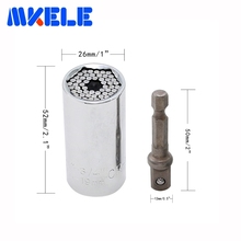 Free Shipping Universal Torque Head Set Socket Sleeve 7-19mm Wrench Power Drill Ratchet Bushing Spanner Magic Hand Tools