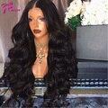 Glueless Parte Dianteira Do Laço Perucas de Cabelo Humano Para As Mulheres Negras Melhor Humano cabelo Brasileiro Virgem Do Cabelo da Onda Do Corpo Peruca Dianteira Do Laço 130 densidade