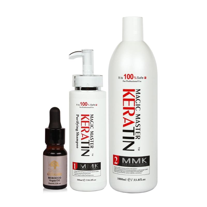 купить Useful 300ml Purifying Shampoo+1000ml WITHOUT Formalin Magic Master Keratin Treatment Straighten Frizzy Hair+Free 10ml Argan Oil по цене 5767.79 рублей