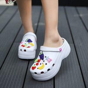 Image 4 - Candy Colors Women Sandals Clogs Mules Eva 2018 Summer Flip Flops Beach Garden Shoes Fashion Slippers Outdoor Chinelo Feminino