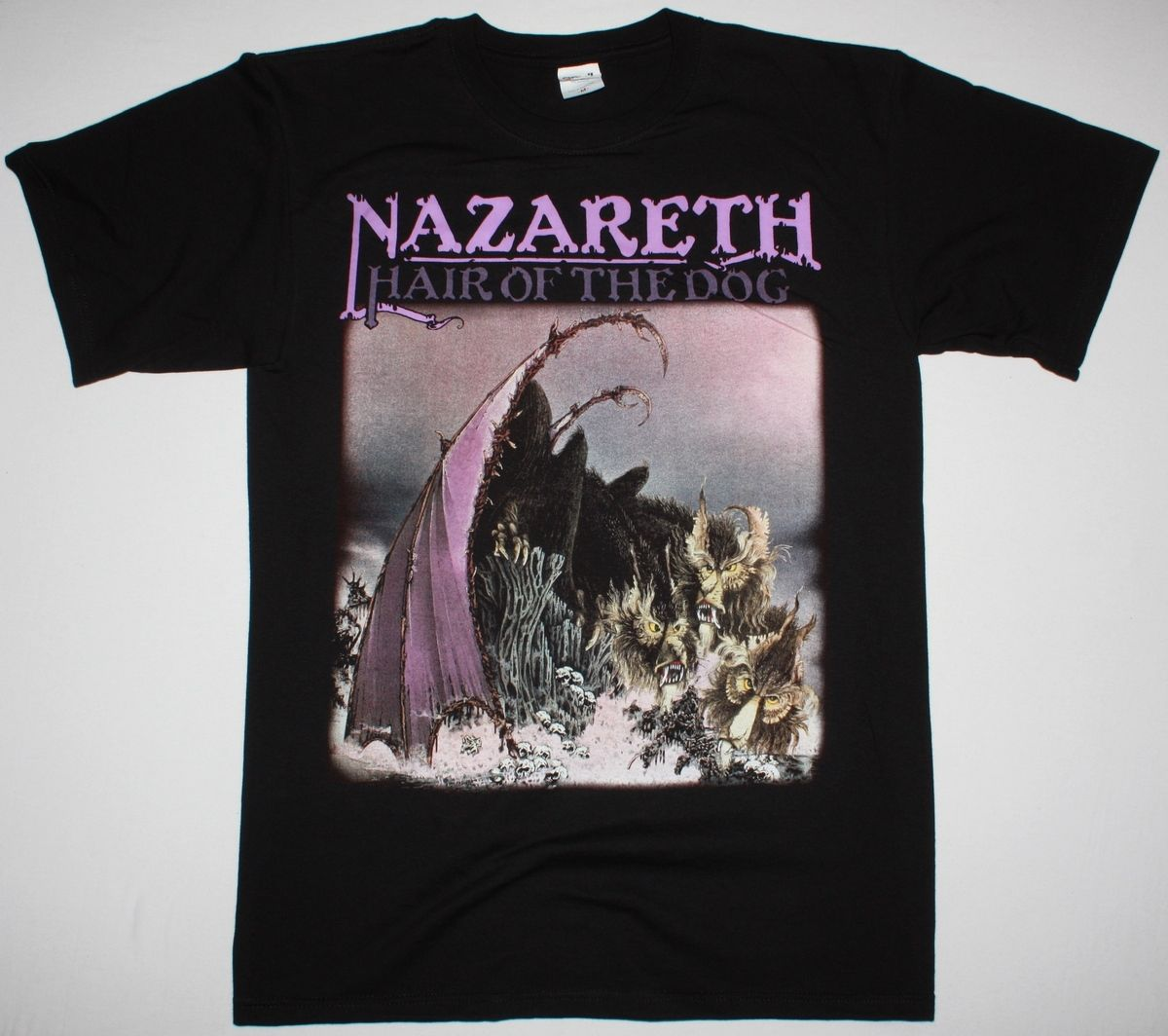 NAZARETH HAIR OF THE DOG HARD ROCK DEEP PURPLE URIAH HEEP NEW BLACK T-SHIRT Different Colours High Quality 100% ...
