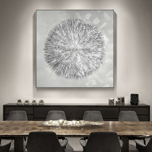 Silvery Acrylic Canvas Oil Painting Nordic Style Bilder Caudro Decoration Modern Abstract Texture Wall Art for Living Room