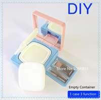 Air Cushion Sponge Powder Puff Empty Box Multifunction BB Cream Sponge Dispensing DIY Eyeshadow Lipstick Make Up box 3 IN 1