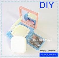 Almofada de ar Sopro Esponja de Pó Caixa Vazia Multifuncional BB Creme esponja de Distribuição DIY Sombra Batom Make Up box 3 EM 1