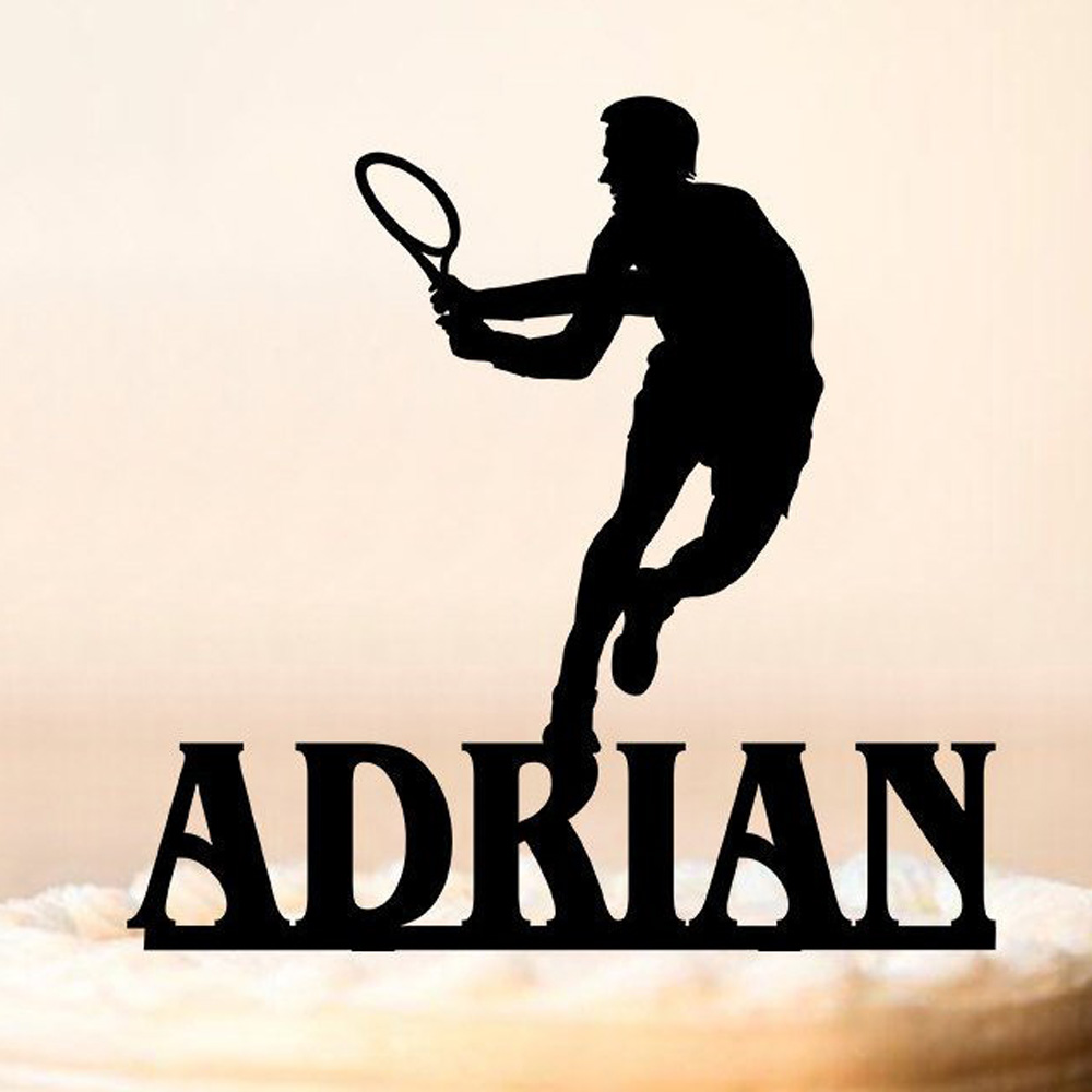 Custom name Happy Birthday Cake Topper,Male Tennis Cake Topper,Sports Birthday Party,interesting Birthday Party Decor SuppliesCustom name Happy Birthday Cake Topper,Male Tennis Cake Topper,Sports Birthday Party,interesting Birthday Party Decor Supplies