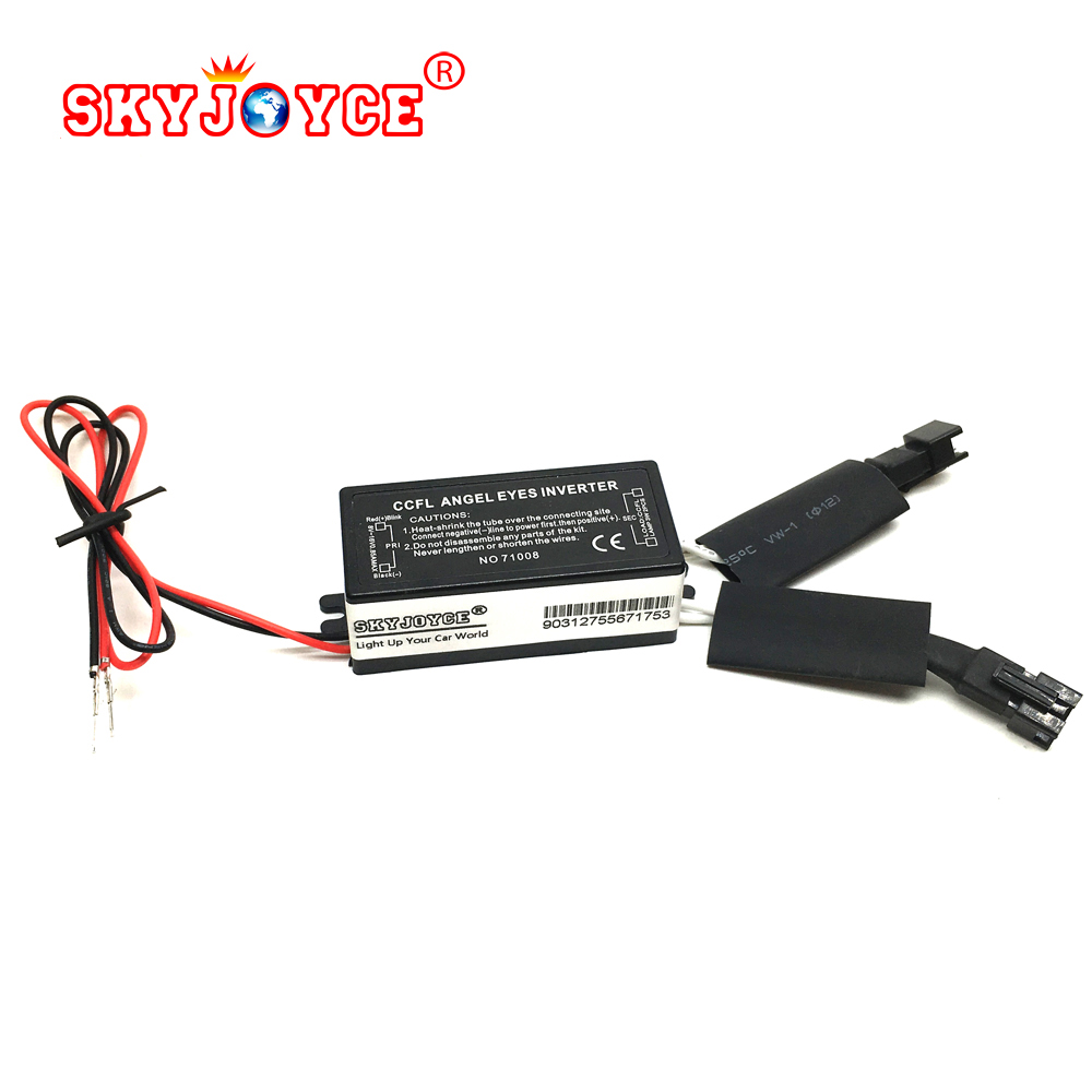 2X 12V universal CCFL inverter replacement 1 for 2 lamps ccfl angel eyes drl driver Halo Ring CCFL Spare Ballast for E46 angel free shipping ccfl angel eyes for bmw e90 e90 non projector halo ring e90 ccfl angeleyes lights