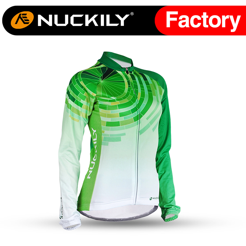 Nuckily Womens Winter Bicycle Cycling Jersey Riding Breathable Jacket Cycle Clothing Bike Long Sleeve Winter Wind Coat GI002