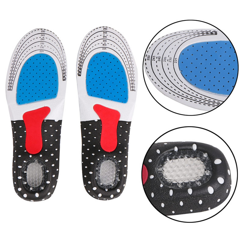 Outdoor camping Insoles Silicone Insoles Pads Orthotic Arch Support Shoe Pad Running Sport Insoles For Hiking Camping  Men Women-2