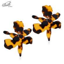 Badu Hyperbole Acrylic Dangle Drop Earrings for Women Leopard Acetic Acid Winter Earring Halloween Party Jewelry Wholesale