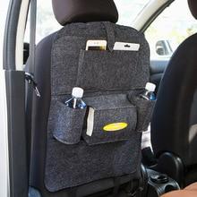 Car Automobil Creative Multi-Pockets Seat Hanging Storage Bag Box Back Seat Organizer Box Car Tidying Styling Storage Bag недорого