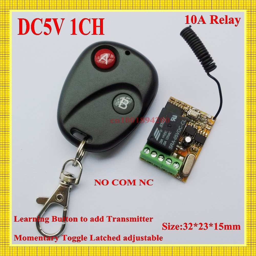 DC5V Relay Receiver Transmitter 315/433MHZ Mini Remote Control Switch 10A Relay Lamp  Light LED Lighting Remote Control Switch 315 433mhz 12v 2ch remote control light on off switch 3transmitter 1receiver momentary toggle latched with relay indicator