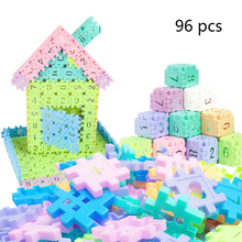 96pcs Baby Toys Digital Building Blocks bricks ABS Children Kids Educational Construction Compatible Plastics