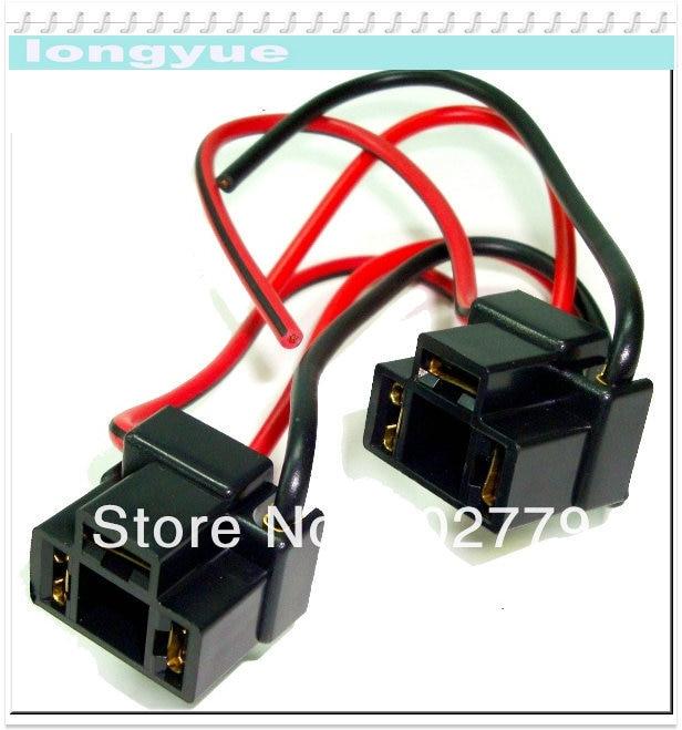 longyue 10pcs H4/9003 bend angle plastic socket for Halogen headlamp on