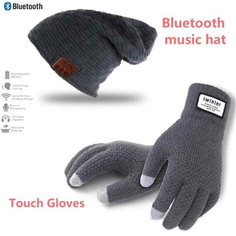 a8f25e8384d Winter Outdoor Sport Fashion Beanie Hat Cap Wireless Bluetooth Earphone  Smart Headset Headphone Speaker Mic Stereo