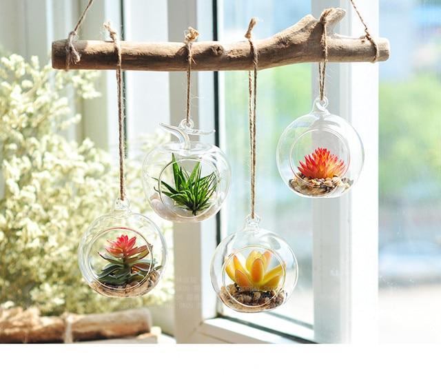 Plant Terrarium Hanging Candle Holder Glass Terrarium Hanging