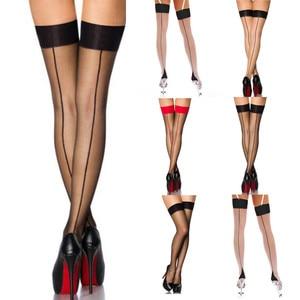 transparent stockings Fashion Sexy Womens Lingerie Net Thigh Stocking Lingerie Garter Belt thigh high stockings medias de mujer